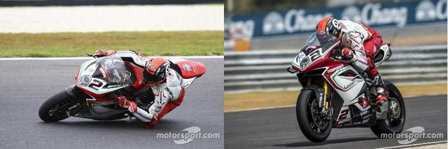 画像: 左 開幕戦 シールドのナンバー横にAMGのロゴ 右 第2戦 AMGのロゴは見当たらない it.motorsport.com