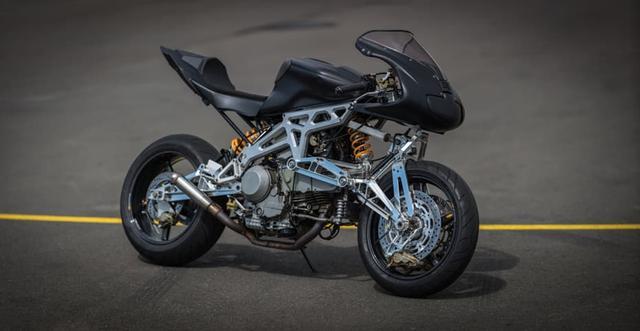 画像: Ducati SS900をベースに開発された車両 フレームから下は左右対称的です www.gizmag.com