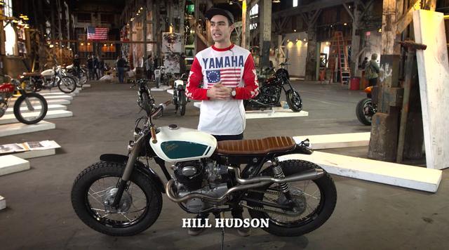 """画像: ビデオでは、各カスタムビルダーの紹介も。こちらはヒル・ハドソンの1973年型ホンダ CB350 """"エスケープ・マシン""""です。 the1moto.com"""