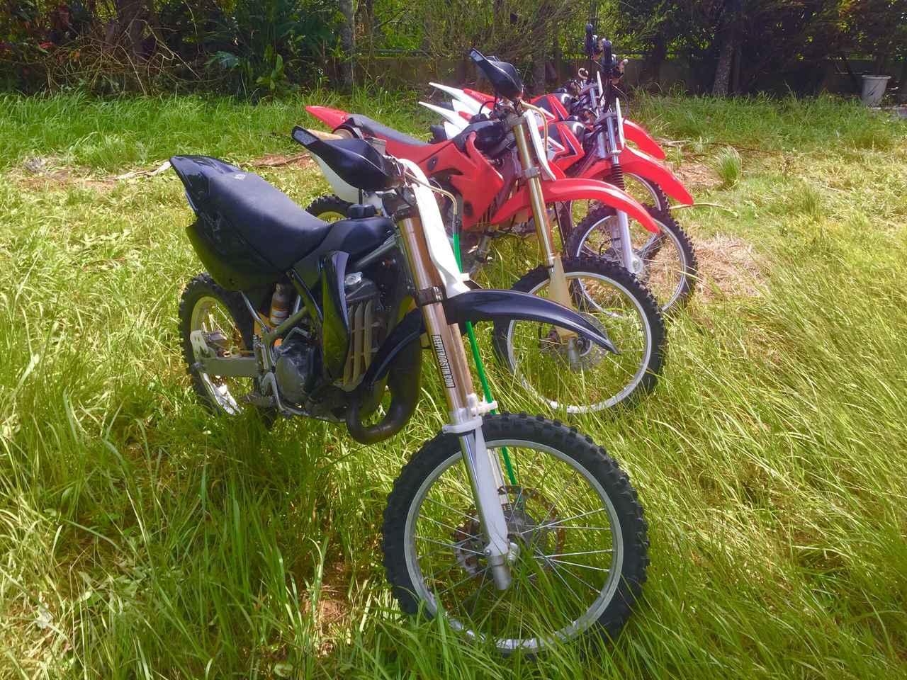 画像: Honda  CRF 150 RII, CRF 125 F, Kawasaki  KX 100 Big Wheel, Yamaha  Serow 250, Aprilia  Climber 240 www.offroad-ishigaki.com