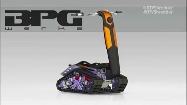 画像: ハンドル側を車体側に折りたたむことができるので、コンパクトな状態で収納できるようになっています。 www.youtube.com