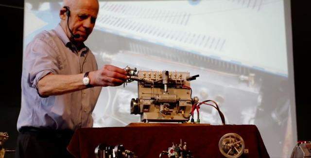 画像: こちらもブガッティですが、グッと時代をさかのぼったタイプ35のエンジン模型。もちろん、バッチリ実動なので、エンジン音を楽しめます。 www.youtube.com