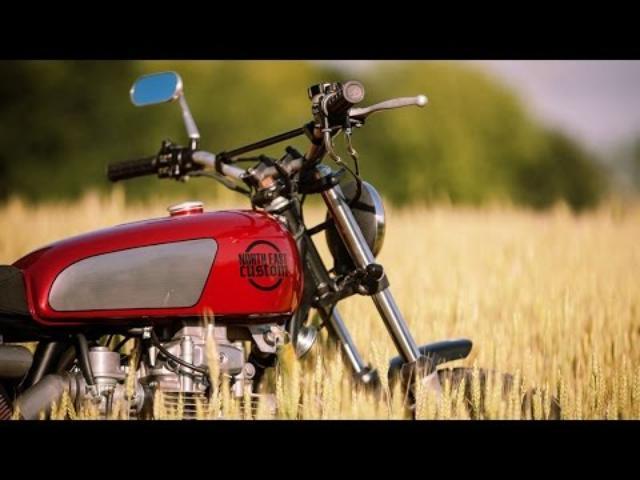 画像: Kawasaki Z400 FlatScrambler by North East Custom www.youtube.com