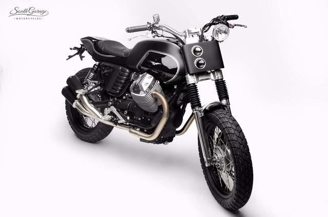 画像: Custom Moto Guzzi V7 by South Garage Motor Co. www.youtube.com