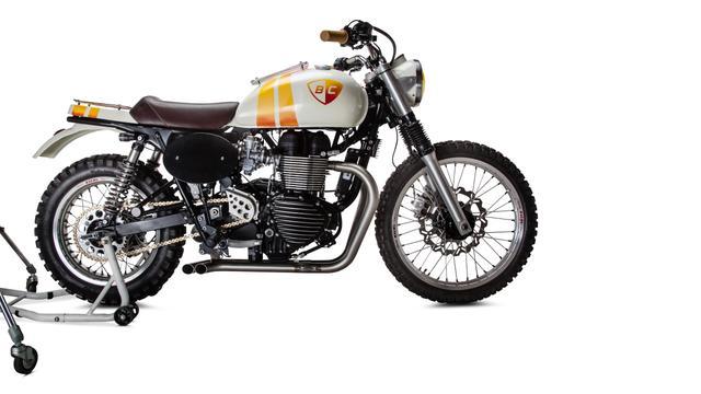 画像1: プロサーファーが愛するカスタムバイクを作ったのは・・ 米国カスタムビルダー British Custom。