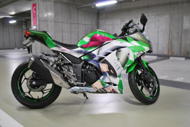 画像: 4号車(川崎来夢仕様・Ninja250SE)価格:105万円 /施工:ART FACTORY GRAPHICS 車両提供:U-MEDIA prtimes.jp