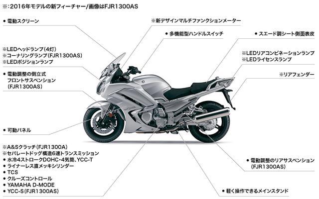 画像: [ニュースリリース]6速ミッション、コーナリングランプ採用などで、さらにツーリング性能・スポーツ性を向上 「FJR1300AS/A」を大幅に刷新して発売