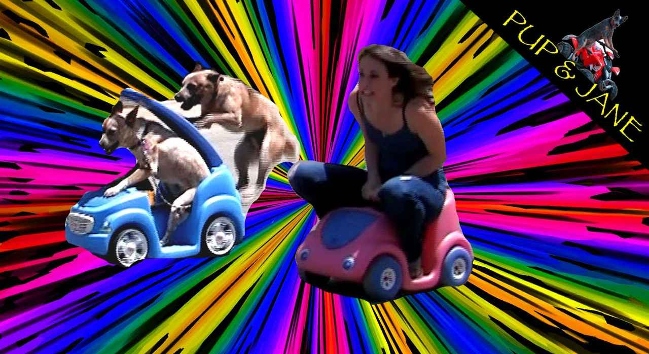 画像: Dog vs Girl Car race - Fun with Pup and Jane youtu.be