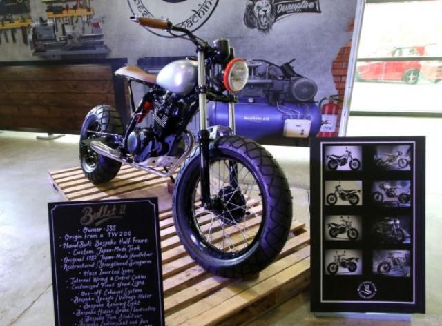 画像: TW200のスリムカスタム www.bt.com.bn