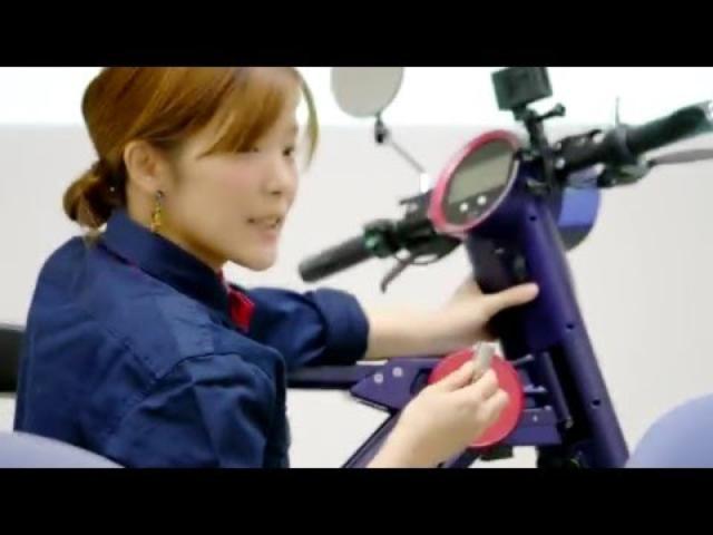 画像: 公道を走れるコンパクトな電動バイク「UPQ BIKE me01」 youtu.be