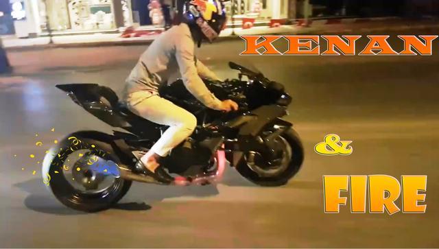 画像: Kenan Sofuoğlu in the nights, Kawasaki Ninja H2R & Fire :) youtu.be