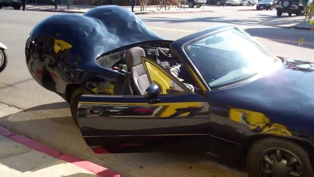画像: WTF? A Mazda Miata with Balls? Big Black's car Rob Dyrdek Fantasy Factory youtu.be