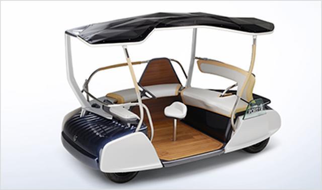 """画像: 06GEN """"動く縁側""""をコンセプトに、低速走行だからこそ実現できる構造と柔らかで開放的な空間で人や環境になじむ形を提案する、電動4輪モビリティのコンセプトモデル。 global.yamaha-motor.com"""