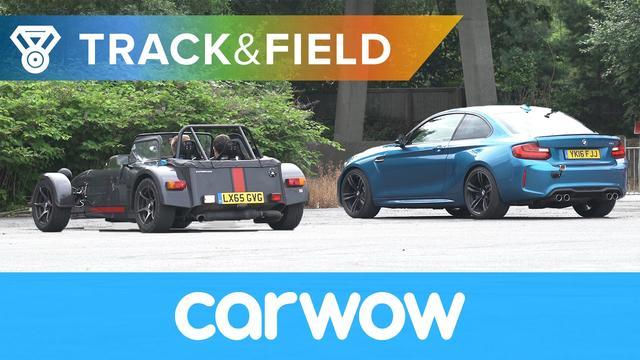 画像: Reverse Drag Race: BMW M2 vs Caterham 620S vs Honda Civic Type R vs Jeep SRT-8 | Track&Field youtu.be