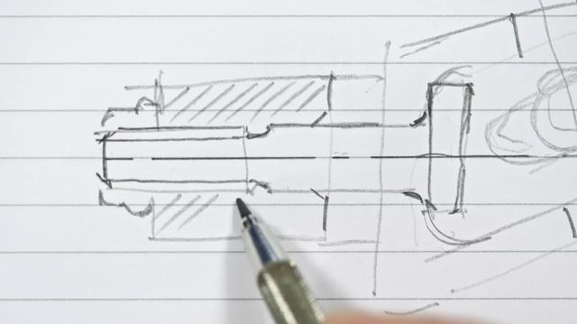 画像: スラスラ〜とボルトらしき絵図面をデザイナーが描きます・・・。この段階でどの部位のボルトかわかる人は、相当の機械ヲタクですね(笑)。 www.youtube.com