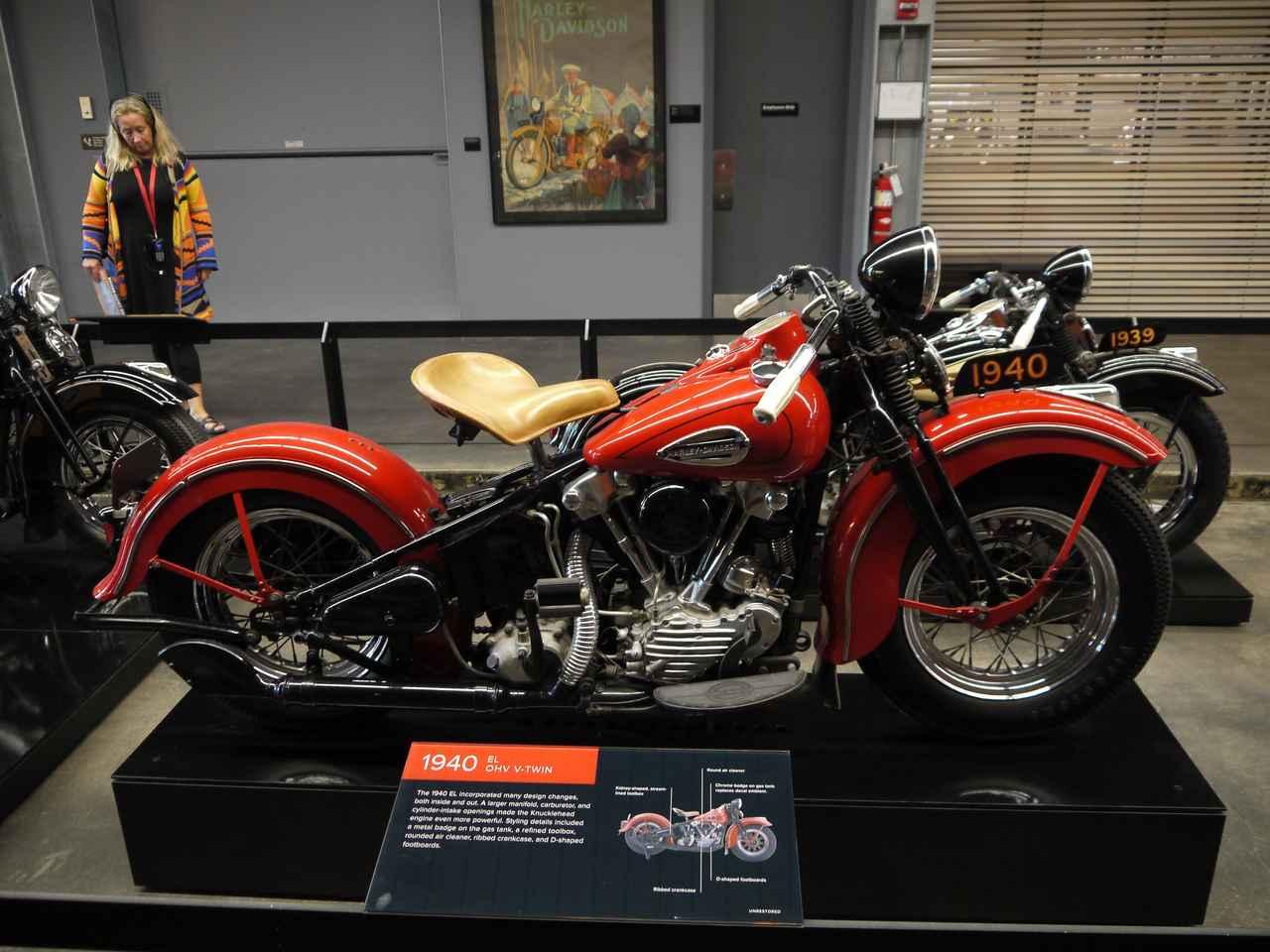 画像: EL(1940) 高校生の頃からずっと憧れているのがこのオートバイ。それがこんなに、サビひとつ無い状態で展示されているとは……ハーレーダビッドソンの美しさを体現していると個人的には思っています。