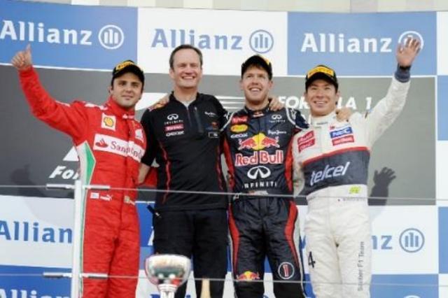 画像: 2012年F1日本グランプリ表彰台(左)
