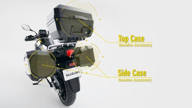 画像: 純正アクセサリーのサイド&トップケースはどれくらいの容量かわかりませんが、ロングツーリングに行く時には非常に便利な装備になること間違いないですね。 www.youtube.com