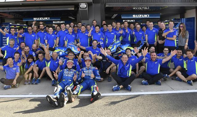 画像: 【MotoGP 第18戦 バレンシアGP 決勝】チームスズキエクスター・最終戦バレンシアを5位、8位で終える