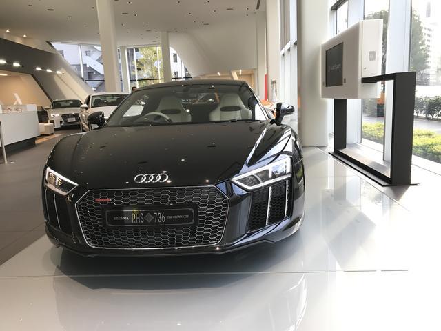 画像1: 「KINGSGRAIVE FINAL FANTASY」登場の特別なR8『The Audi R8 Star of Lucis』の実車を確認!