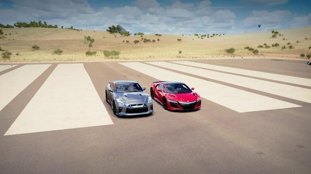 画像: 2017 Acura NSX vs 2017 Nissan GT-R Drag Race | Forza Horizon 3 www.youtube.com