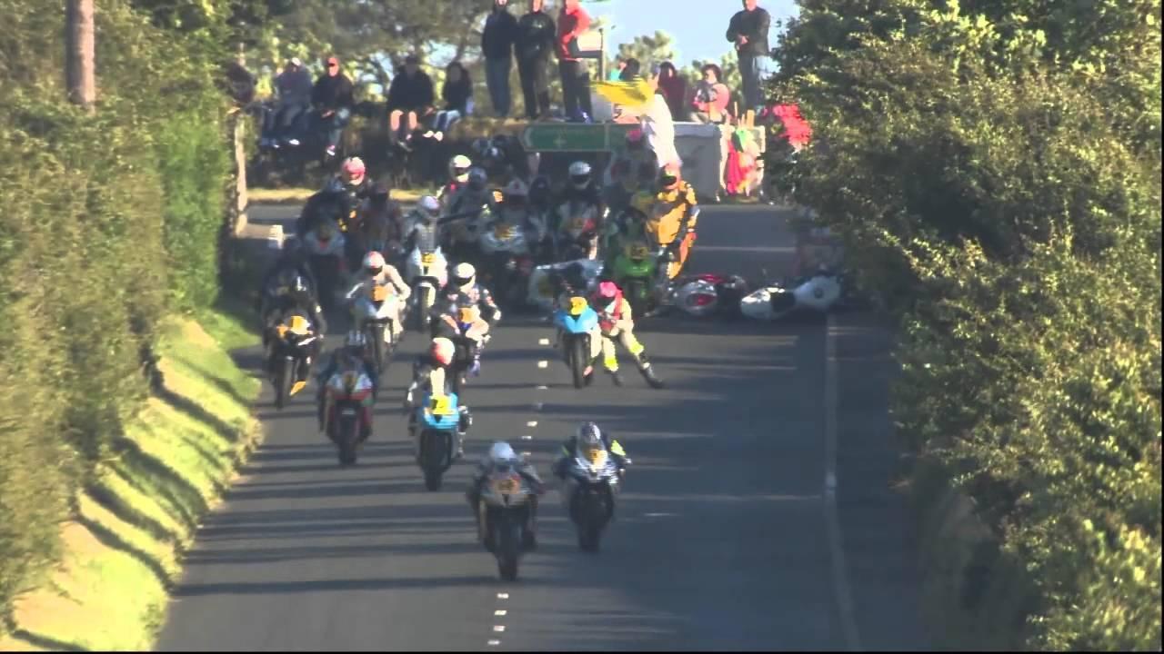 画像: Big Crash at Southern 100 2014 Isle of Man youtu.be