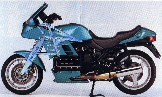 画像: 1985年に製作されたホサックK100。BMWはホサックの顧客の所有するホサック・フォーク採用BMWを徹底的に研究し、そのステアリング構成のメリットを調べたと言われています。 static.wixstatic.com