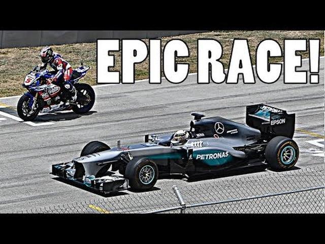 画像: LEWIS HAMILTON: F1 CAR vs YAMAHA R1M SUPERBIKE!! www.youtube.com