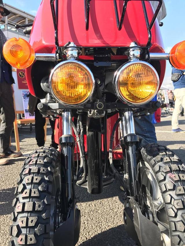 画像: 1930's reproduction lights with Harley Sportster's blinker lights
