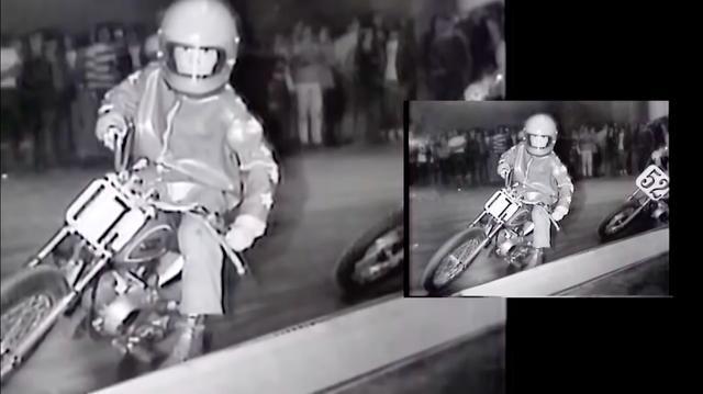 画像: 1968年、ルイジアナのダートトラック・チャンピオンシップを走るF.スペンサー。ヤマハのGT60(JTですね)に乗っています。 www.youtube.com