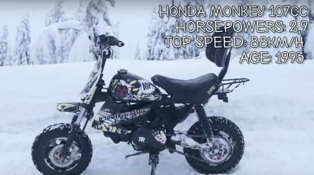 画像3: 【動画】『モンキーに乗るモンキーvs謎のヒーロータイガーマン』雪山レースで火花を散らします!!