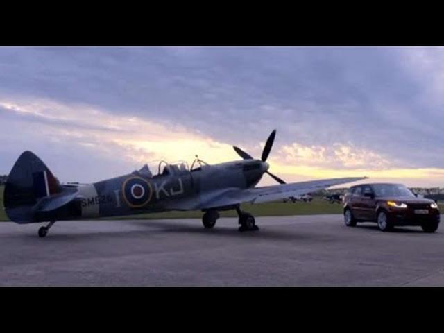 画像: Range Rover Sport vs Spitfire   Car vs Plane at Goodwood youtu.be