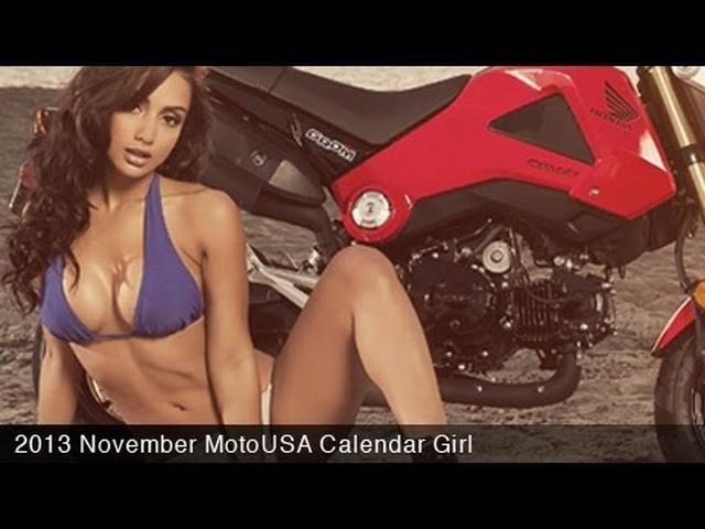 画像: MotoUSA November 2013 Calendar Girl - Brittney - YouTube www.youtube.com