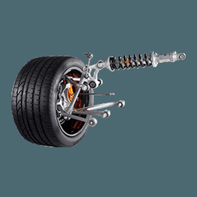 画像: 【サスペンション】Aventador S Coupé には、プッシュロッド式フロントおよびリア磁気レオロジーサスペンションが搭載され、道路条件やドライバーが選択したドライビングモードに応じてサスペンションの挙動を絶えず修正します。不要なローリングや車体の動きを補正するだけでなく、システムは Rear-wheel Steering System (リアホイール・ステアリング・システム) と合わせて動作。 www.lamborghini.com