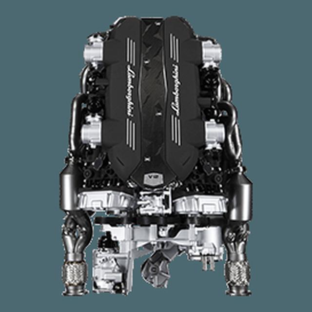 画像: 【エンジン】6.5 リットル V12 シリンダー、740馬力での最大出力8,400 rpmのエンジンは、高回転時に非常に簡単に坂道を上り、また素早く反応するといった特徴を持っています。2.9秒で0から時速100キロに達する驚異的な加速は、スーパーカーのセグメントに於ける真の基準になったAventador S Coupé のごく一部しか語りません。 www.lamborghini.com