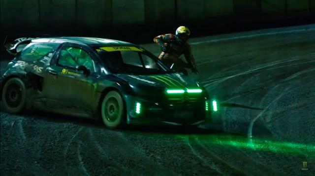 画像: ターボ付き2.0リッターエンジンを搭載し、0-60mph(約96.56km/h)の到達速度が2秒!!! というモンスターマシン、シトロエンDS3 RXに挑むスピードウェイマシン! www.youtube.com