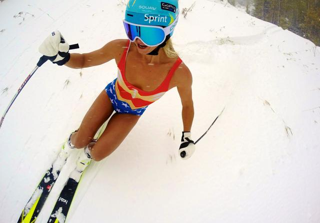 画像: GoPro Adventures as Wonder Woman - Julia Mancuso youtu.be