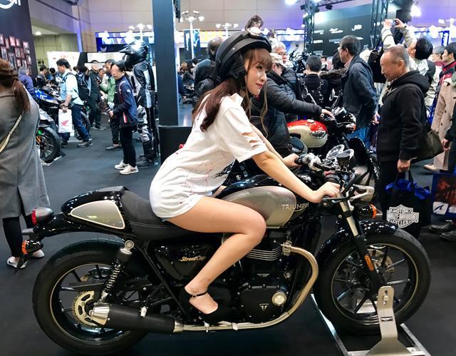 画像3: 【フォトギャラリーorグラビア?】 ヘルメット女子がまたがったマシンたち@2017 第44回東京モーターサイクルショー