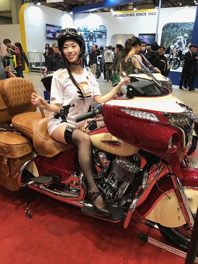 画像8: 【フォトギャラリーorグラビア?】 ヘルメット女子がまたがったマシンたち@2017 第44回東京モーターサイクルショー