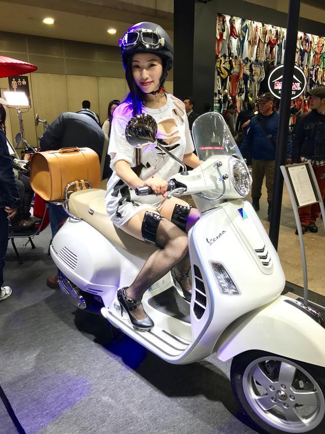 画像6: 【フォトギャラリーorグラビア?】 ヘルメット女子がまたがったマシンたち@2017 第44回東京モーターサイクルショー