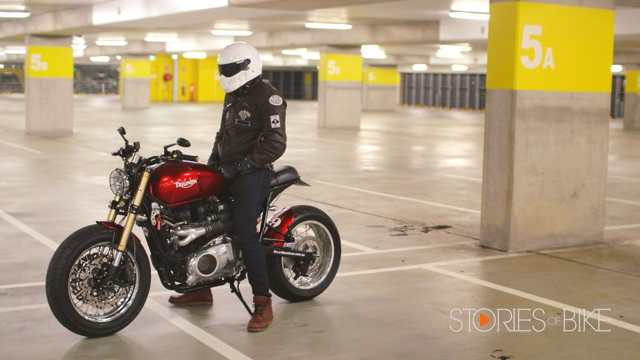 画像: Modified Triumph Bonneville by Mean Machines www.youtube.com