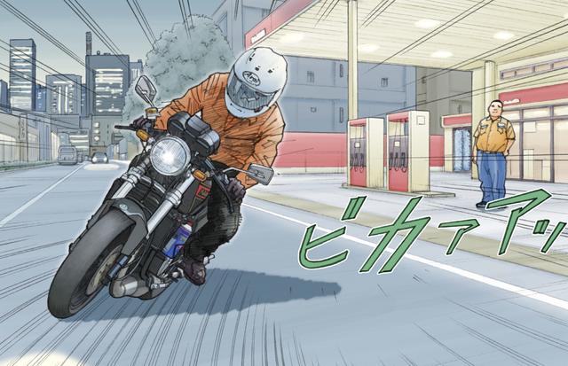 画像1: 通勤ライダーにはライバルがいた。ピンクのSUZUKI カタナだ。