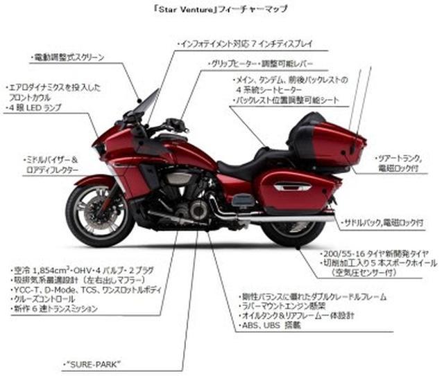 画像2: YAMAHA発動機から北米向け新型クルーザーモデル「Star Venture」が発売!