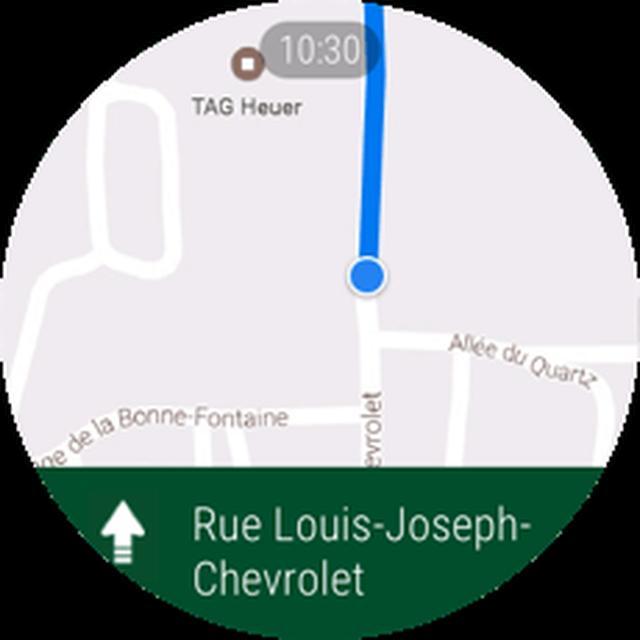 画像: Googleマップ ウォッチが便利なナビになります。目的地の方向を把握するためにスマートフォンを取り出す必要はありません。(お使いのスマートフォンによってご利用ができない可能性があります。)