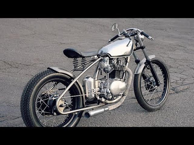 画像: Custom Honda XL250 Bobber by Larsmade www.youtube.com
