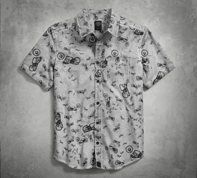 画像: Allover Bike Print Shirt ¥11,300-