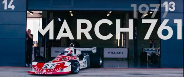 画像: 参戦初年度の1977年は、ウィリアムズ自前のマシンが間に合わず、マーチ761を購入しての参戦でした。 www.youtube.com