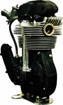 画像: モルナー製のマンクスノートン・レプリカエンジン。当時のオリジナルより材質や加工方法などが進歩した分、耐久性も動力性能もアップしています。 www.manx.co.uk