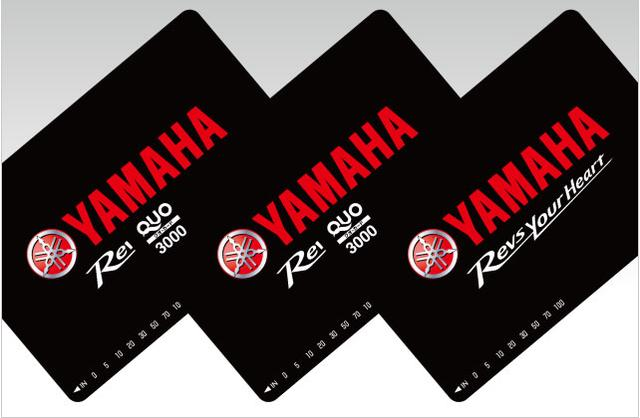 画像: YAMAHAロゴ入りオリジナルQUOカード www.yamaha-motor.co.jp