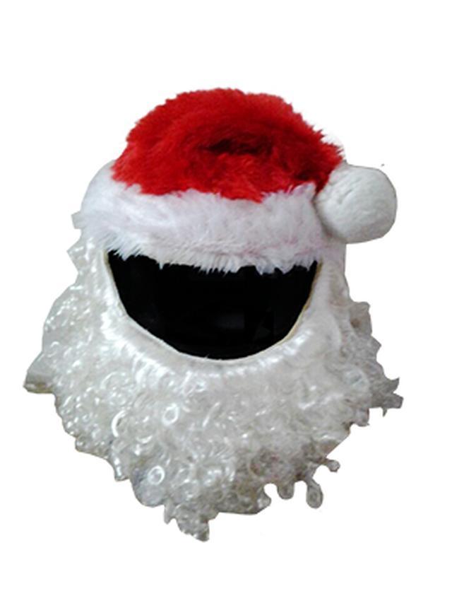 画像: Santa Claus Christmas Motorcycle Helmet Cover - US$34.99 : HelmetDevil.com, Hoods, Horns, Mohawks & Visor Shield Stickers for your Motorcycle Helmet.